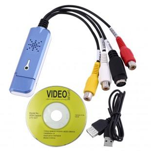 Новый портативный USB 2.0 Easycap Видео Аудио Адаптер для захвата аналогового видео