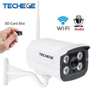 WI-FI IP уличная камера видеонаблюдения с микрофоном, водонепроницаемая HD 1280*720 P