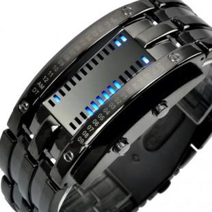 Часы бинарные SKMEI 0926  креативные часы для мужчин с цифровым светодиодныым дисплеем 50 м водостойкие