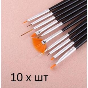 10 шт Набор кистей для Nail Art