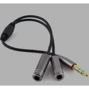 3,5 мм  адаптер для наушников для прослушивания вдвоем