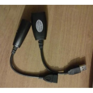 Адаптер удлинитель USB-RJ45 LAN CAT5/CAT6 - Удлинитель для USB устройств до 20 метров