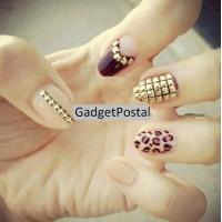 Металлические квадратные стразы для ногтей