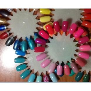 10 Ромашек для демонстрации образцов лака на ногтях