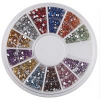Купить Набор блесток для ногтей 1.5 мм  (1800 шт)