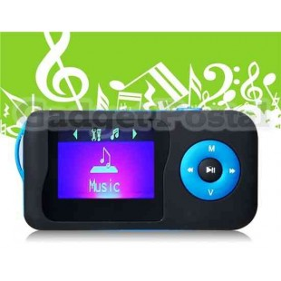 Мини Water Drop Design TF Card MP3 Player Поддержка FM / Электронная книга / Multilanguage (синий)