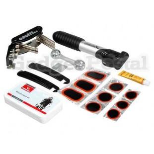 ROSWHEEL велосипед Ремонтный комплект Инструменты с триатлону сумка насос сумка для инструментов (черный)