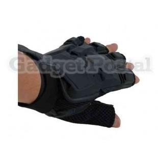 перчатки для езды на велосипеде (черные) из мягкой кожи
