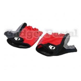 Перчатки без пальцев для велосипедистов L (красный)