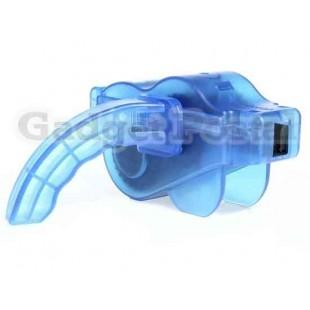 Мини Портативный Сеть велосипедов очиститель (синий)