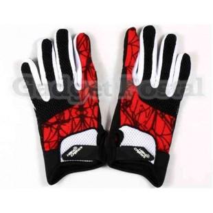 Велоспорт перчатки Sz M (красный)