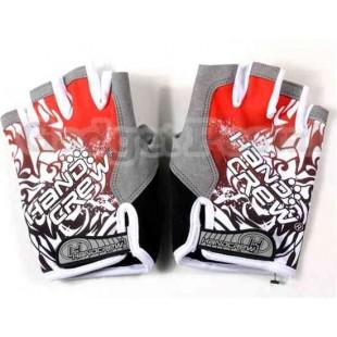 Перчатки без пальцев Велоспорт SZ Л (красный)