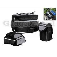 4-в-1 сумка для велосипеда передняя рама (черный)