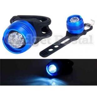 Алюминиевый велосипедный водонепроницаемый передний фонарь белого света  (синий)
