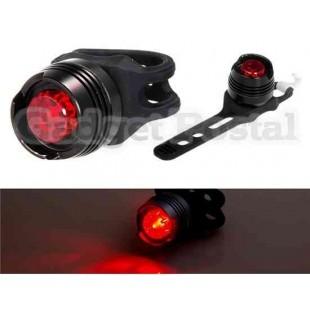 Алюминиевый Red Light Водонепроницаемый световом фронте велосипедов (черный)