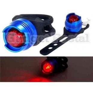 Алюминиевый Red Light Водонепроницаемый световом фронте велосипедов (синий)