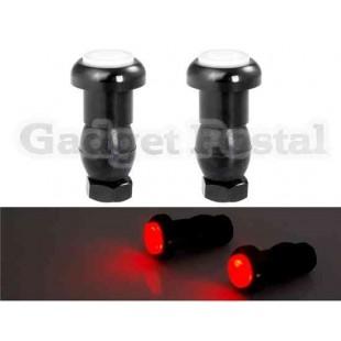 Красный свет Светодиодный свет велосипеда предупредительный (черный)