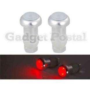 Красный свет Светодиодный свет велосипеда предупредительный (белый)