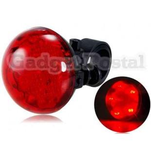 Битлз Shaped 5-LED три режима безопасности велосипедов света Ночь безопасности задний фонарь (красный)