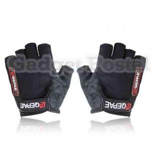 Новый Велоспорт велосипед Спорта на открытом воздухе велосипедов Anti-Slip дышащий Half-Finger перчатки размер M (черный)