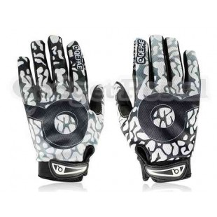 Новый Велоспорт велосипед Anti-Slip Дышащие Пламя Полный пальцев перчатки размер M (белый)