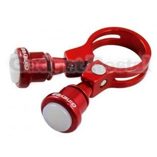 Велосипед Seatpost Зажим лампы 31.8мм велосипед Quick Release Seatpost Зажим лампы (красный)