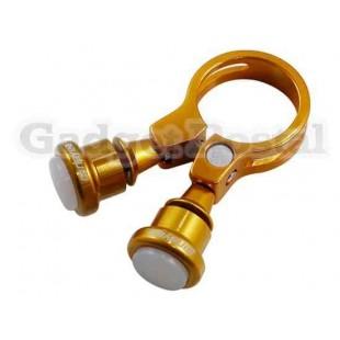 Велосипед Seatpost Зажим лампы 31.8мм велосипед Quick Release Seatpost Зажим лампа (Золотой)