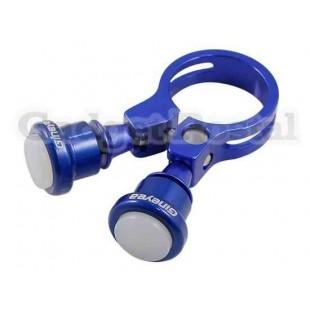 Велосипед Seatpost Зажим лампы 34.9mm велосипед Quick Release Seatpost Зажим лампы (синий)