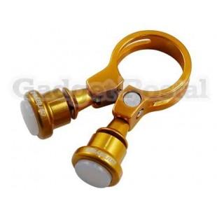 Велосипед Seatpost Зажим лампы 34.9mm Велосипед Quick Release Seatpost Зажим лампы (Золотой)