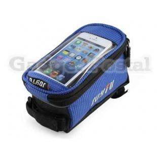 Велоспорт велосипед сиденья седло мешок Кадр передний подушку безопасности (синий)