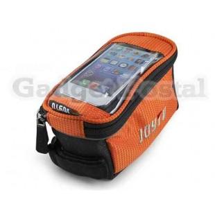 Велоспорт велосипед сиденья седло мешок Кадр передний подушку безопасности (оранжевый)