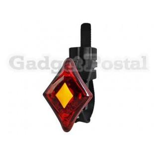Велосипед Хвост заднего Водонепроницаемый аккумуляторная 3-Mode 2-Свет (красный)