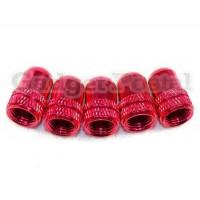 Купить Велосипед клапан Шредера алюминиевого сплава велосипед шины Valve Caps 2шт (Красный)