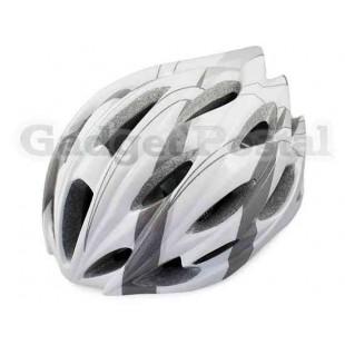 MTB / Дорога велосипед Велоспорт велосипед Велоспорт Шлем + козырек LW-208 (серый + белый)
