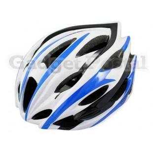 MTB / Дорога велосипед Велоспорт велосипед Велоспорт Шлем + козырек LW-208 (синий + белый)