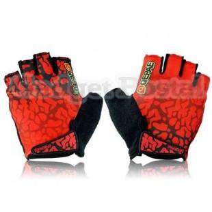 Новый Велоспорт велосипед Спорта на открытом воздухе велосипедов Lycra Half-палец перчатки Размер XL (красный)