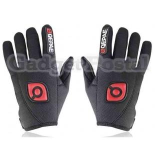 Новый Велоспорт велосипед Спорта на открытом воздухе Anti-Slip Дышащие Полный-Finger перчатки размер L (черный)