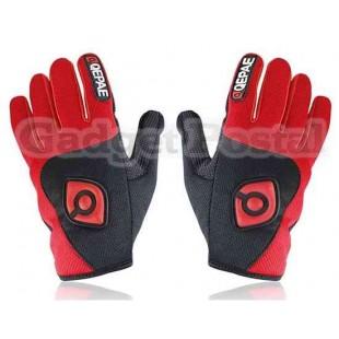 Новый Велоспорт велосипед Спорта на открытом воздухе Anti-Slip Дышащие Полный-Finger перчатки размер L (черный + красный)
