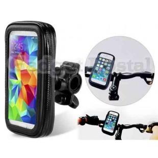 Открытый водонепроницаемый мешок велосипедов с прозрачным Чехол для мобильных телефонов (В 4,7 ``) (черный)