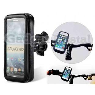 Открытый водонепроницаемый мешок велосипедов с прозрачным Чехол для мобильных телефонов (В 6,3 ``) (черный)