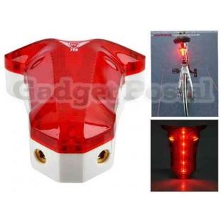 Велосипед Лазерная Tail Light Водонепроницаемый предупреждение дорожный велосипед безопасности 8 LED + 2 LASER