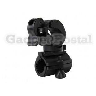 Пластиковый  велосипедный держатель для фонариков (черный)