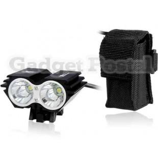 SolarStorm X2 Super Bright 2 х CREE XM-L U2 4-Mode 2000LM светодиодные велосипедов Свет (черный)