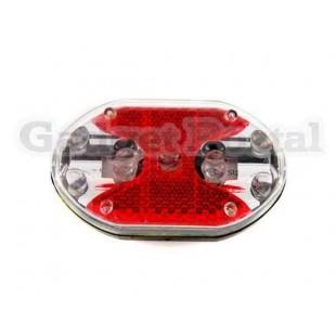 9 светодиодные велосипедов Пояс LED безопасности света (красный)