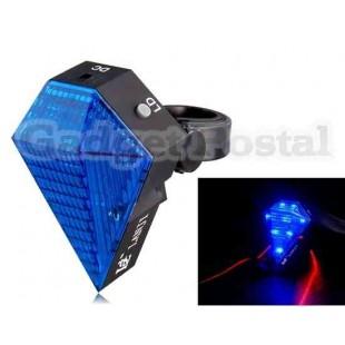2-в-1 3-режиме 8-LED велосипед лазерная хвост света (синий)