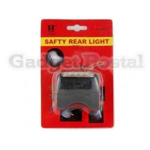 Лазерная Поощрение 5-светодиодный велосипед безопасности Факел Flash Light (черный)