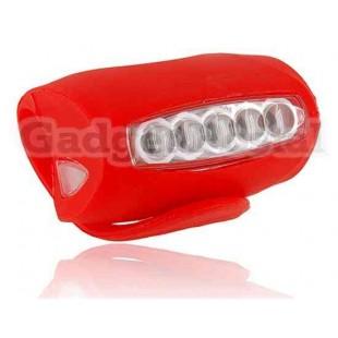 5-светодиодный велосипед безопасности Факел Flash Light (красный)