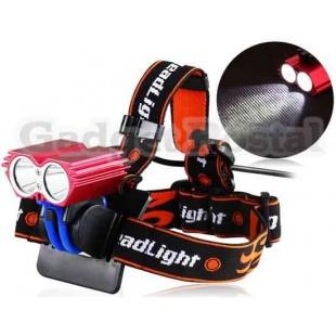 Сова T6 1200Lux LED Red Light Свет велосипедов Передняя безопасности (красный)