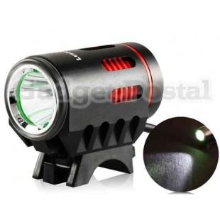 LusteFire 1200Lux дальнего света светодиодные велосипедов с металлом Shell (черный)