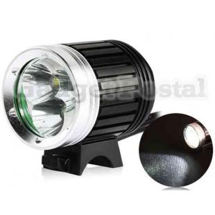 LusteFire 3600Lux 3 х T6 велосипед свет с металлом Shell (черный)